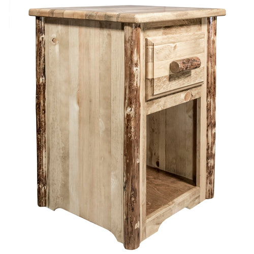 Glacier Country Rustic End Table w/ Drawer