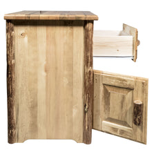 Load image into Gallery viewer, Glacier Country Rustic End Table w/ Drawer & Door Left Hinged
