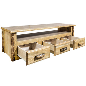 Glacier Country Rustic Entertainment Center