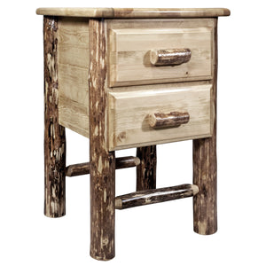 Glacier Country Rustic Nightstand with 2 Drawers