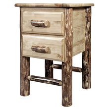 Load image into Gallery viewer, Glacier Country Rustic Nightstand with 2 Drawers