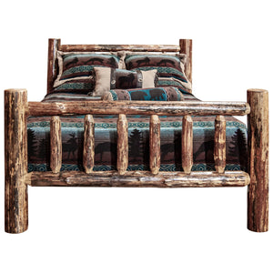 Glacier Country Rustic Pine Spindle Log Bed