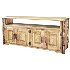 Glacier Country Rustic TV Stand