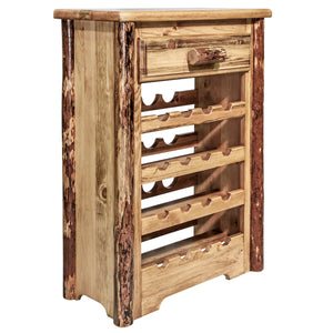 Glacier Country Rustic Wine Cabinet