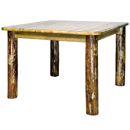 Glacier Country Square 4 Post Rustic Dining Table