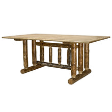 Load image into Gallery viewer, Glacier Country Trestle Based Rustic Dining Table