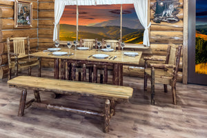 Glacier Country Trestle Based Rustic Dining Table
