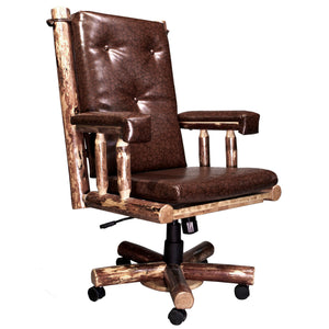 Glacier Country Upholstered Rustic Office Chair