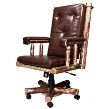 Load image into Gallery viewer, Glacier Country Upholstered Rustic Office Chair