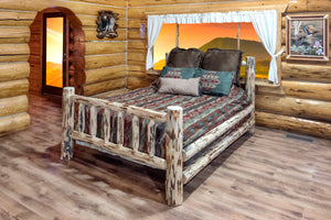 Montana Spindle Style Rustic Bed