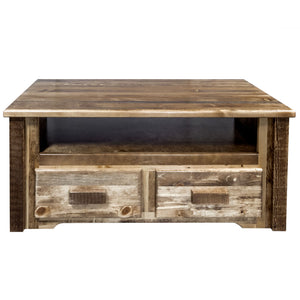 Homestead 2 Drawer Rustic Entertainment Center