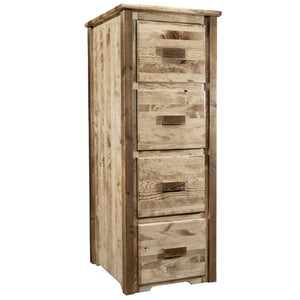 Homestead 4 Drawer Rustic File Cabinet