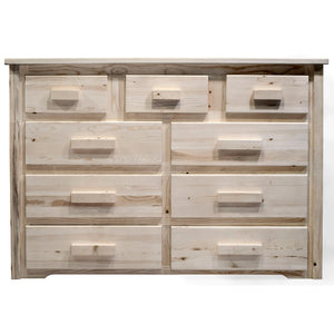 Homestead 9 Drawer Rustic Log Dresser