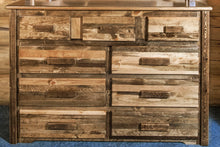 Load image into Gallery viewer, Homestead 9 Drawer Rustic Log Dresser