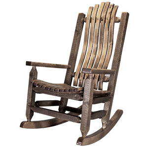 Homestead Adult Log Rocker