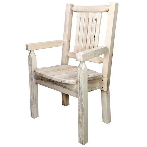 Homestead Rustic Captain's Chair w. Ergonomic Wooden Seat