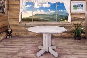 Homestead Center Pedestal Rustic Dining Table