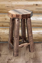 Load image into Gallery viewer, Homestead Counter Height Backless Rustic Bar Stool