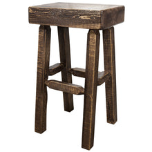 Load image into Gallery viewer, Homestead Counter Height Half Log Rustic Bar Stool