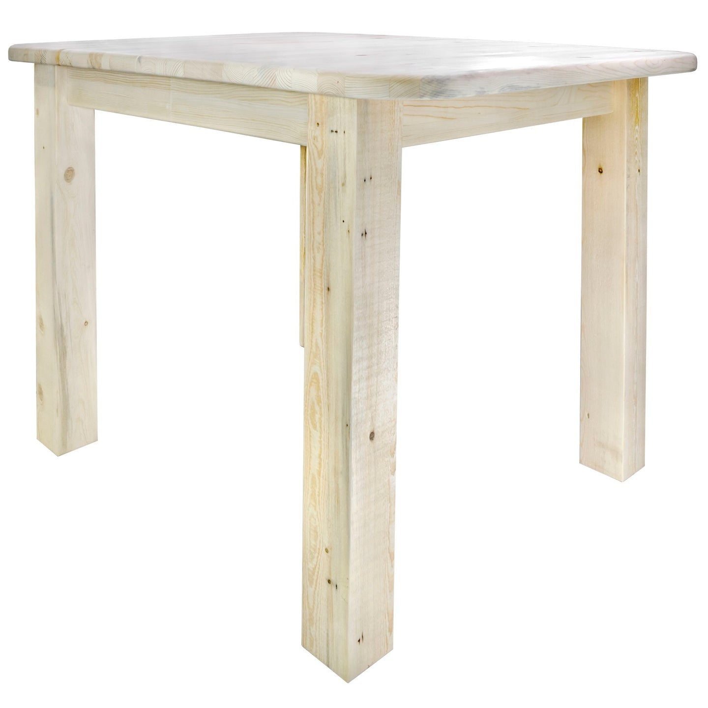 Homestead Counter Height Square 4 Post Rustic Dining Table
