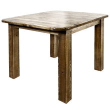 Load image into Gallery viewer, Homestead Counter Height Square 4 Post Rustic Dining Table