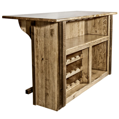 Homestead Deluxe Rustic Bar with Foot Rail