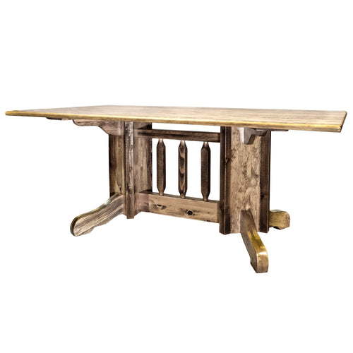 Homestead Double Pedestal Rustic Dining Table