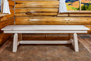 Homestead Plank Style Wood Dining Bench