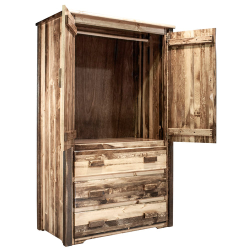 Homestead Rustic Armoire Wardrobe