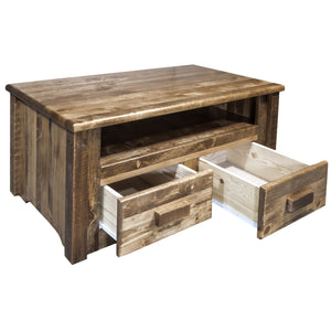 Homestead Rustic Coffee Table w/ 2 Drawers