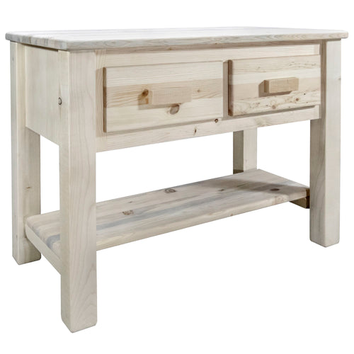 Homestead Rustic Console Table w/ 2 Drawers