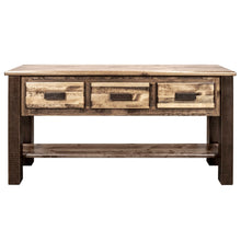 Load image into Gallery viewer, Homestead Rustic Console Table w/ 3 Drawers