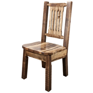 Homestead Rustic Dining Chair with Ergonomic Seat