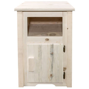 Homestead Rustic End Table w/ Door Right Hinged