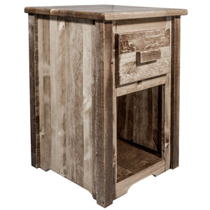 Homestead Rustic End Table w/ Drawer