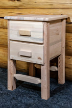 Load image into Gallery viewer, Homestead Rustic Nightstand with 2 Drawers