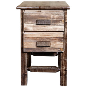Homestead Rustic Nightstand with 2 Drawers