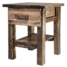 Load image into Gallery viewer, Homestead Rustic Nightstand with Drawer and Shelf