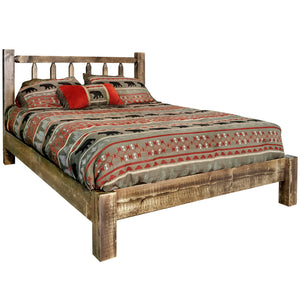 Homestead Rustic Platform Bed
