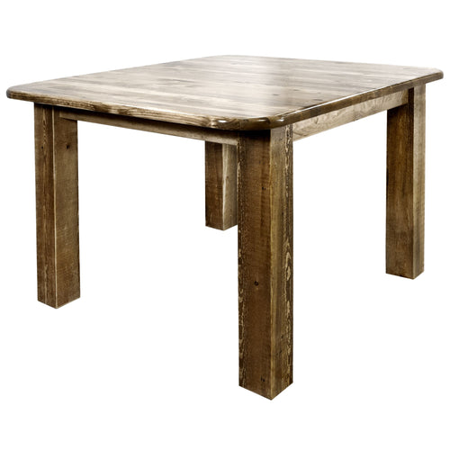 Homestead Square 4 Post Rustic Dining Table
