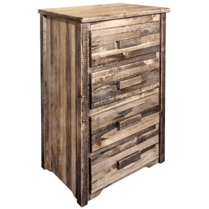 Homestead 4 Drawer Rustic Log Dresser
