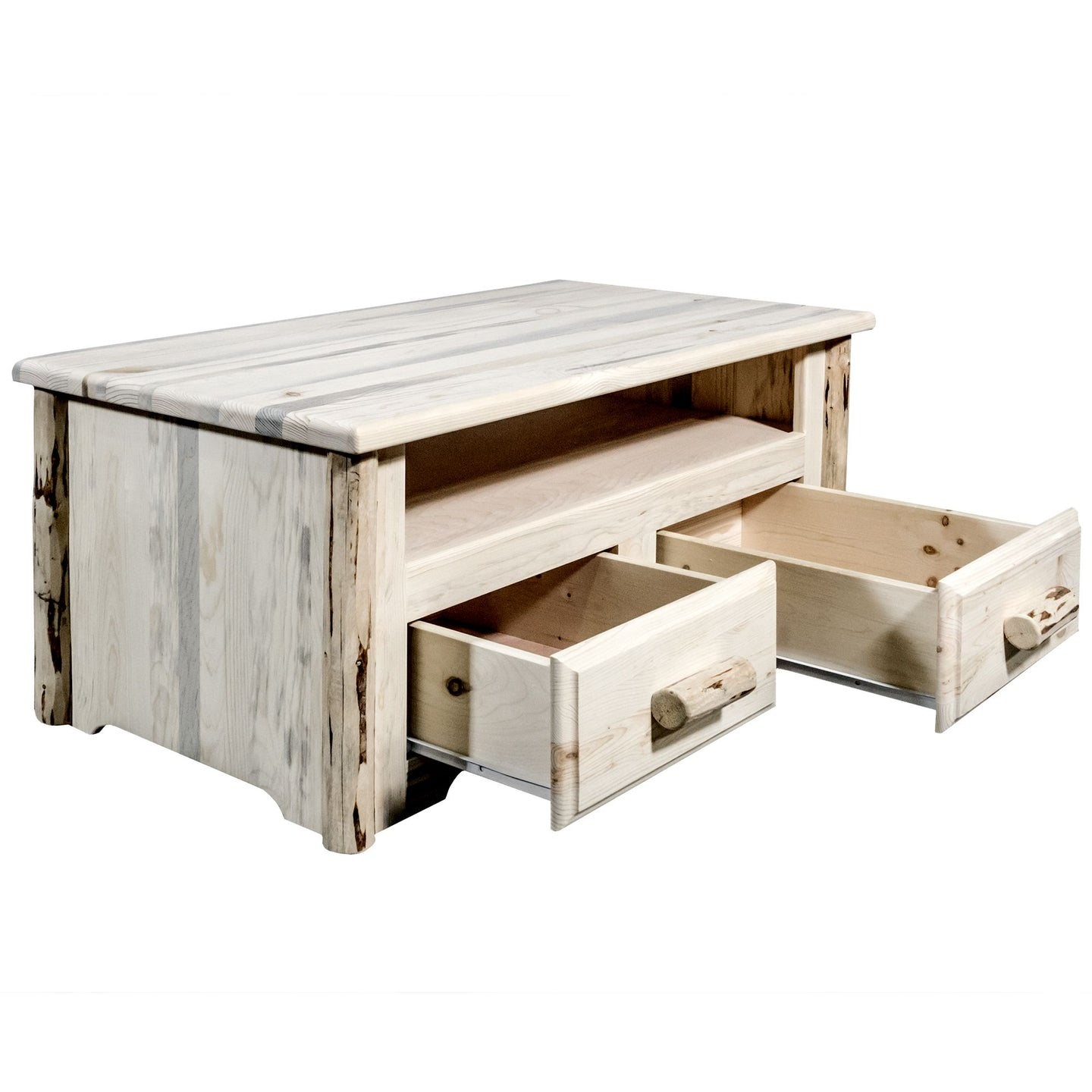 Montana 2 Drawer Rustic Entertainment Center