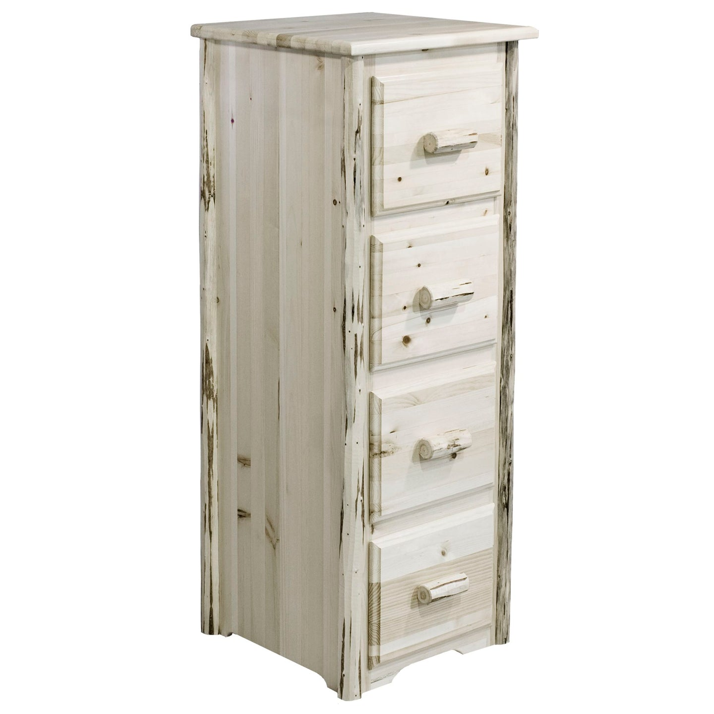Montana 4 Drawer Rustic File Cabinet