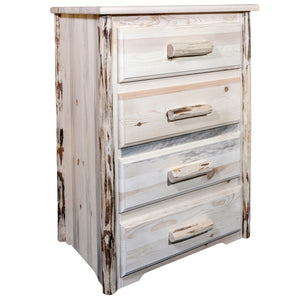 Montana 4 Drawer Rustic Log Dresser