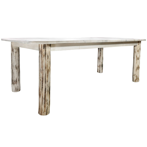 Montana 4 Post Rustic Dining Table w/ Two 18