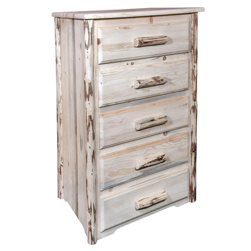 Montana 5 Drawer Rustic Log Dresser