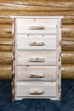 Load image into Gallery viewer, Montana 5 Drawer Rustic Log Dresser
