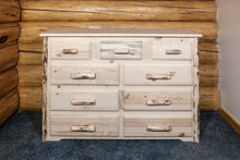 Load image into Gallery viewer, Montana 9 Drawer Rustic Log Dresser
