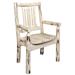 Montana Rustic Captain's Chair w. Ergonomic Wooden Seat