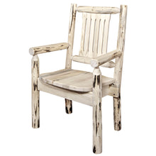 Load image into Gallery viewer, Montana Rustic Captain's Chair w. Ergonomic Wooden Seat